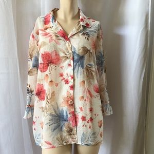 Very Pretty Alfred Dunner Floral Blouse